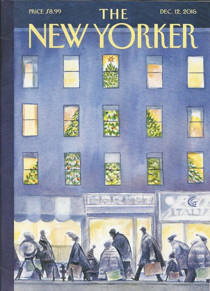 The New Yorker Magazine December 12 2016 New Yorker Covers The New Yorker Christmas Cover