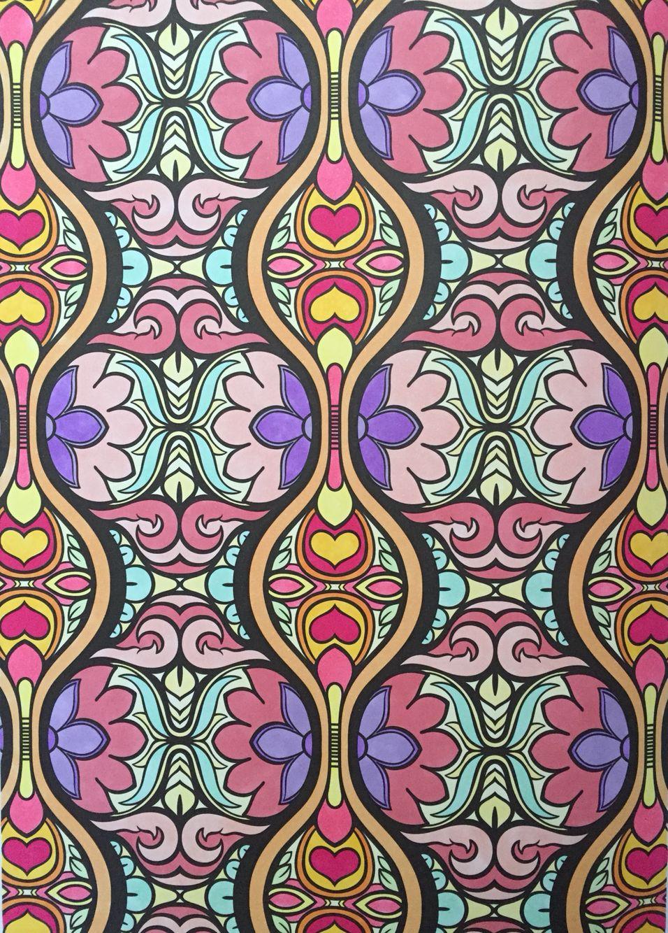 Vintage Patterns Coloring Pages. Vintage patterns  Kleurplaten ingekleurd Pinterest