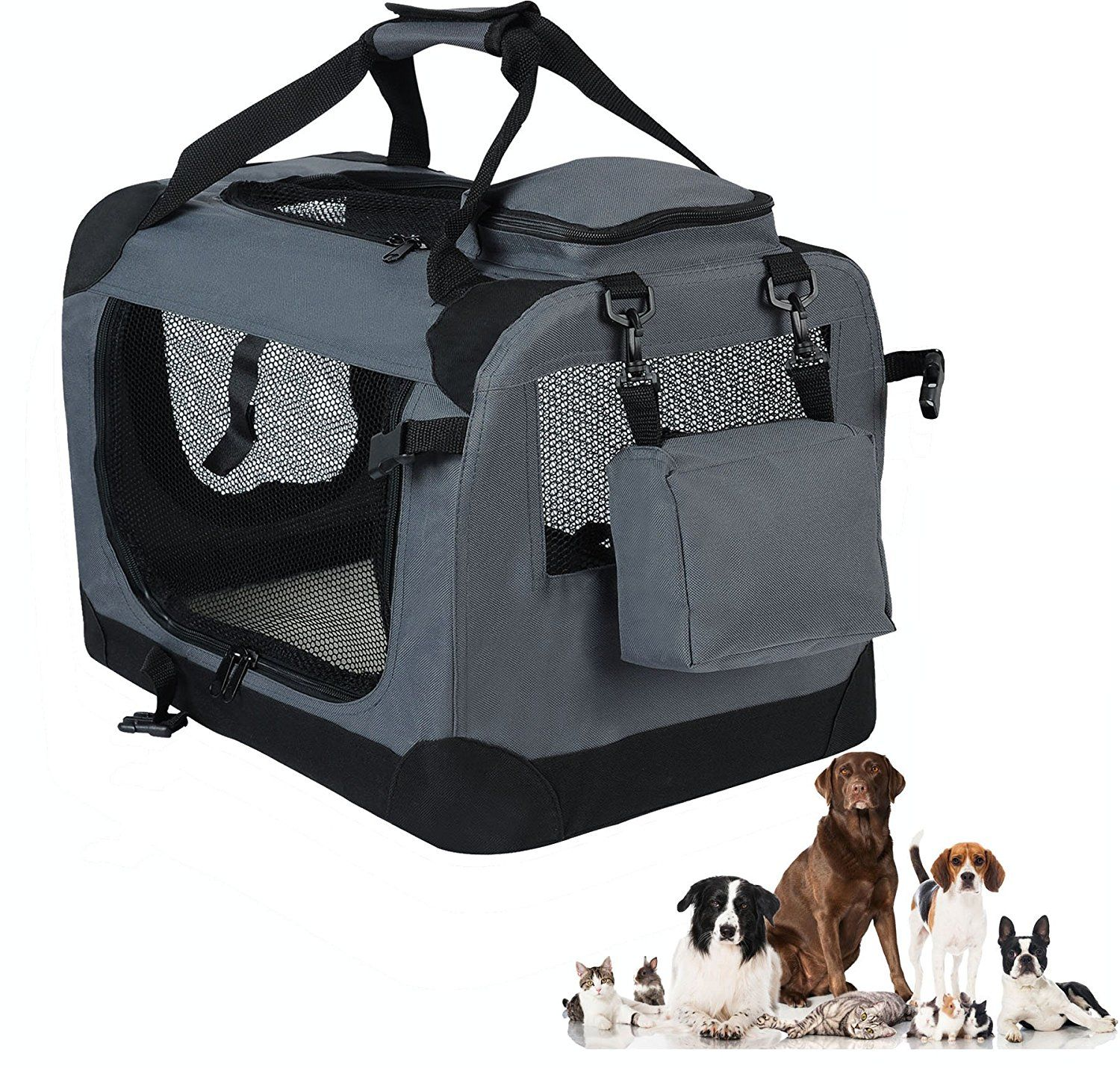 Woltu Folding Pet Carrier Soft Dog Crate Pet Home For Indoor Outdoor Use Multiple Colors And Sizes Available With Images Soft Dog Crates Soft Pet Carrier Folding Dog Crate