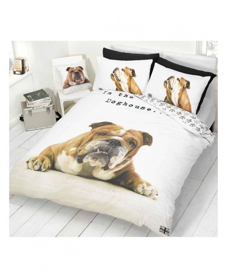 french bulldog double duvet set