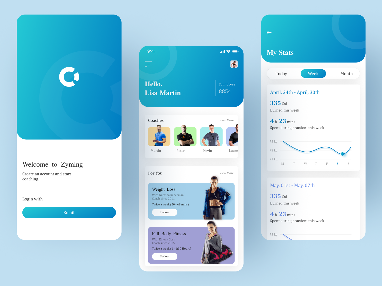 Gym App by Mindinventory