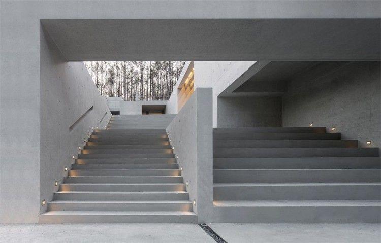 eclairage marche escalier exterieur maison bton escalier extrieur marches spots clairage led