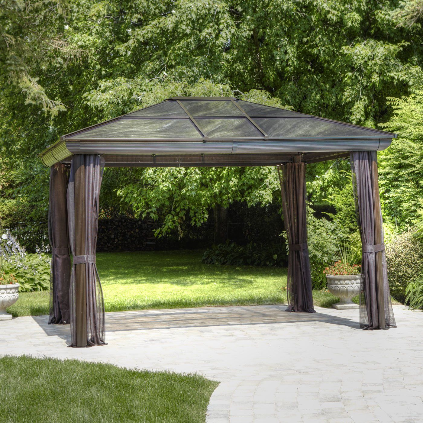 Shop Gazebo Penguin 12 ft x 10 ft All Seasons Gazebo Actual