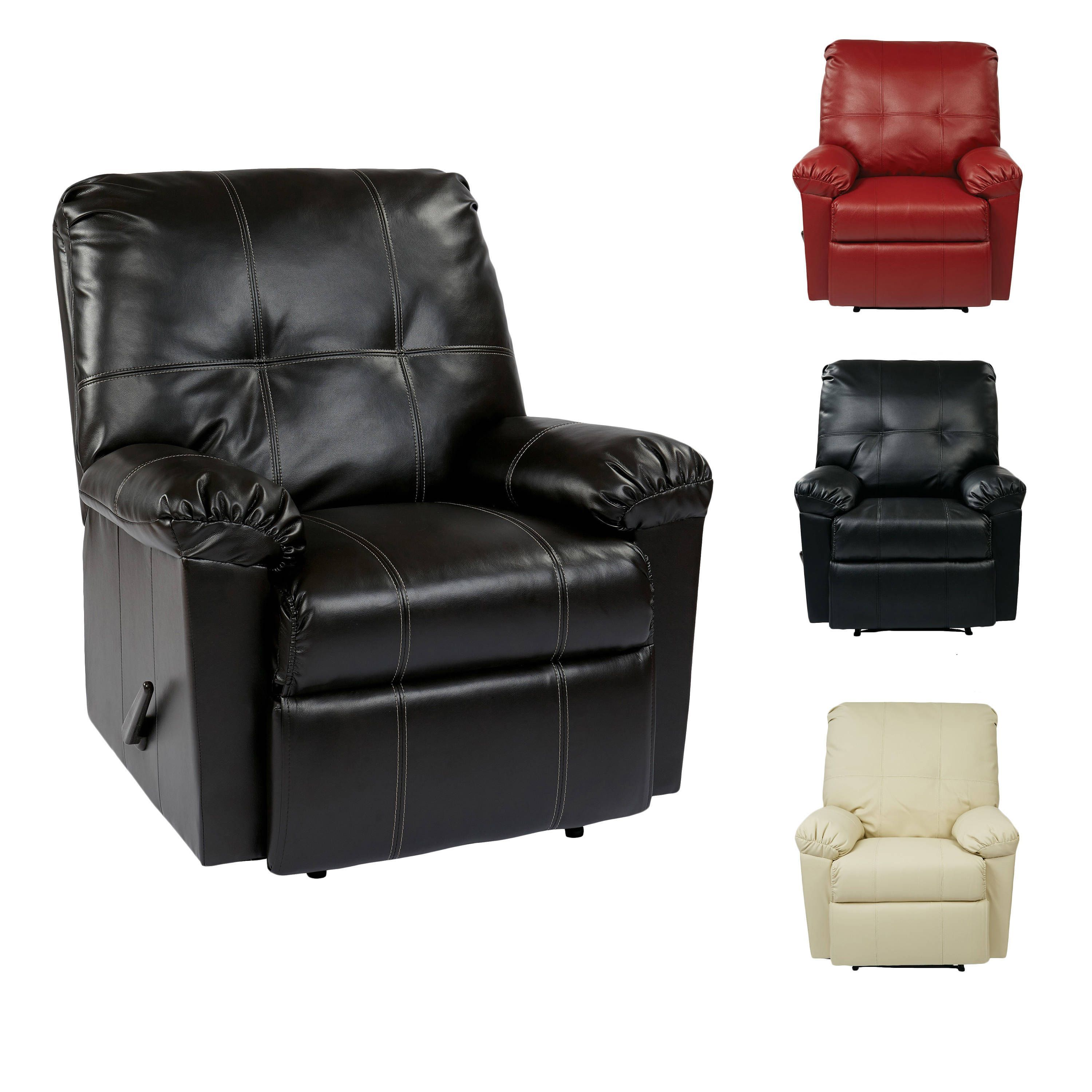 office recliners. Office Star Products Kensington Eco-friendly Leatherette Recliner With Solid Wood Legs (Recliner In Black), Size Standard (Foam) Recliners