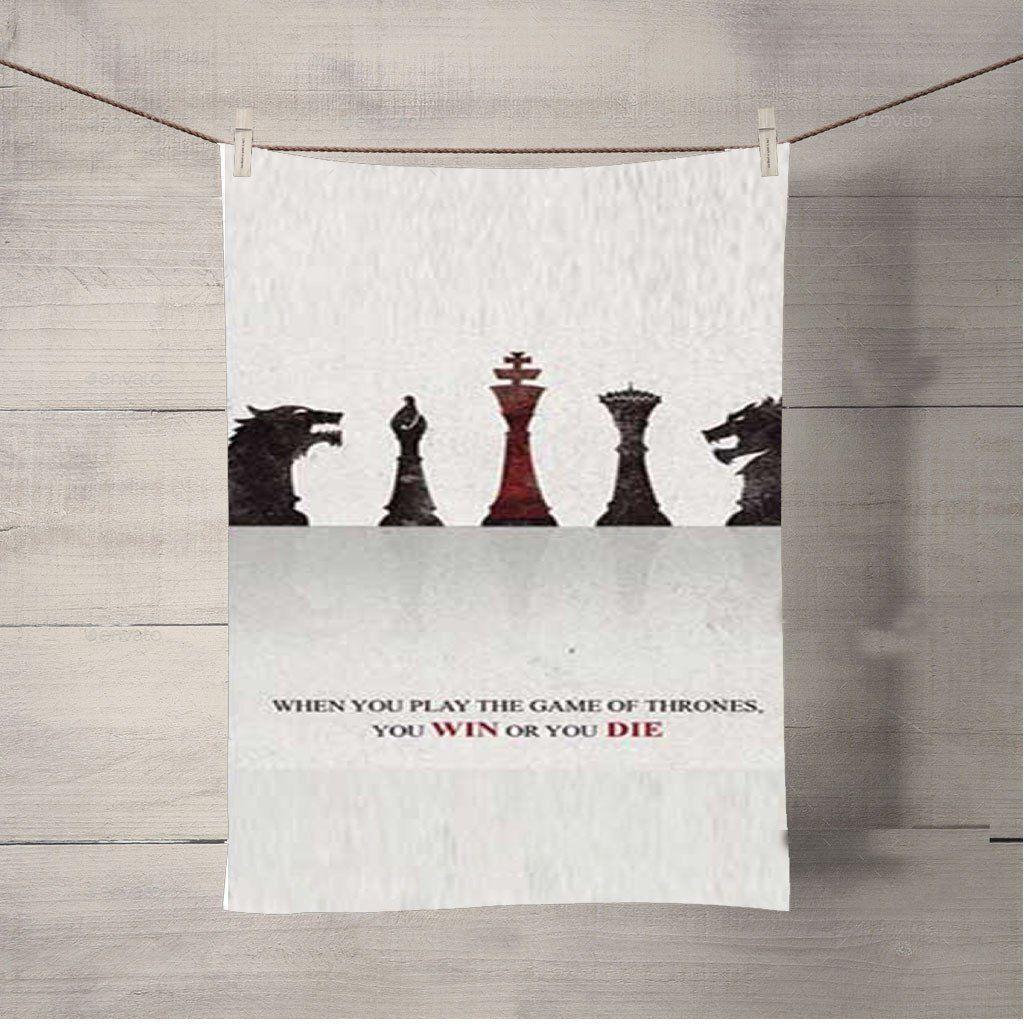 Of Thrones Chess Pieces Bath Towel