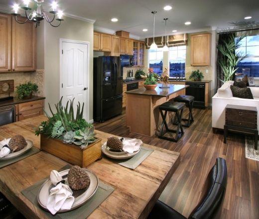 Green Kitchen Floors: Oak Cabinets Green Backsplash Wood Floors Kitchen