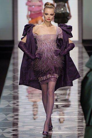 Valentino Fall 2007 Couture Fashion Show - Magdalena Frackowiak