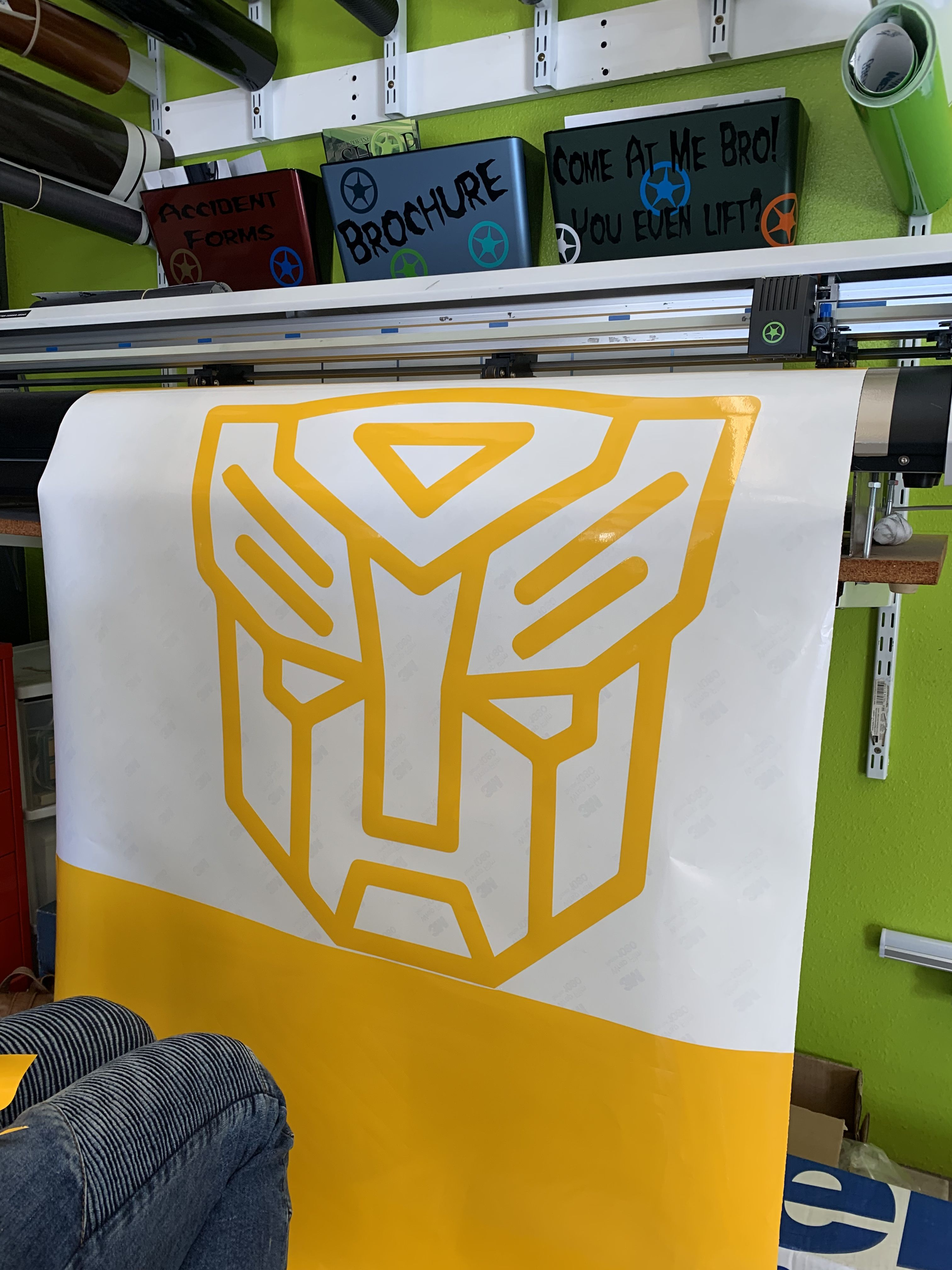 Did some custom graphics for our transformers fan for her