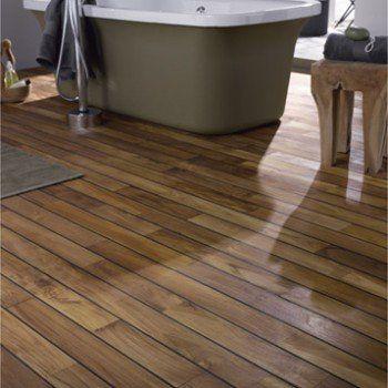 parquet massif teck pont de bateau huil s solid leroy merlin salle de bain pinterest. Black Bedroom Furniture Sets. Home Design Ideas