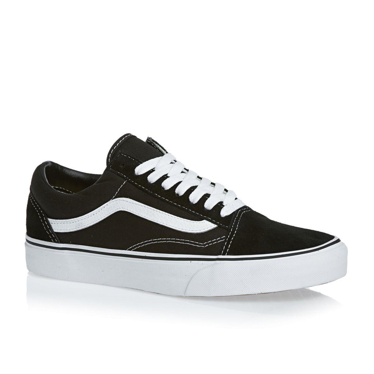 Vans Shoes - Vans Old Skool Shoes - Black White
