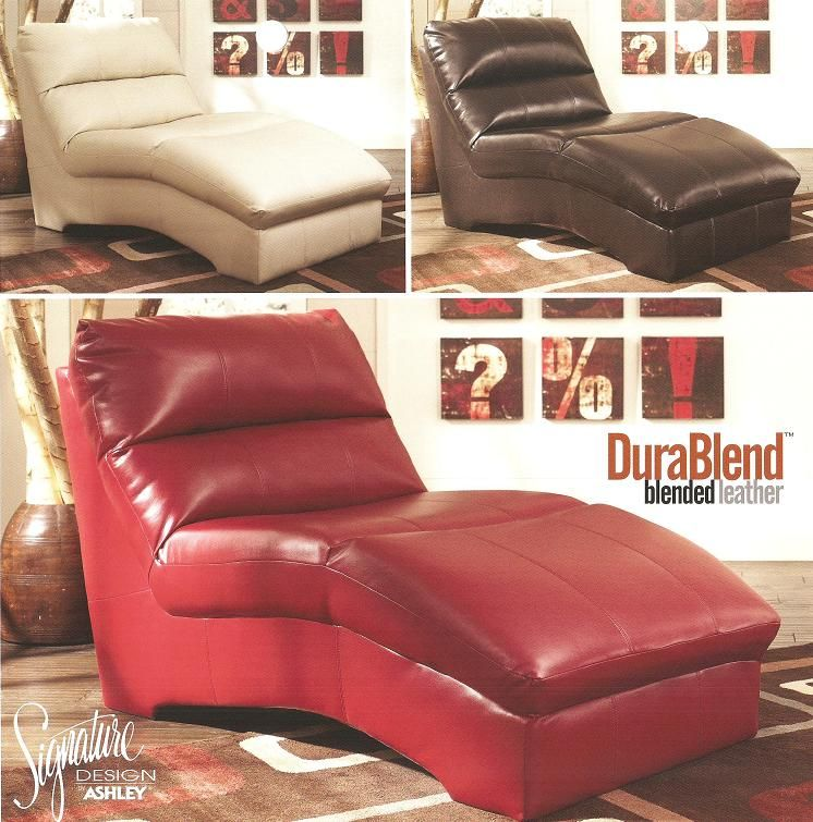 Ashley Furniture 927 Blended Leather Chaise Lounge New Low Price Limited Time Only Available In Three Colors Red White And Chocolate