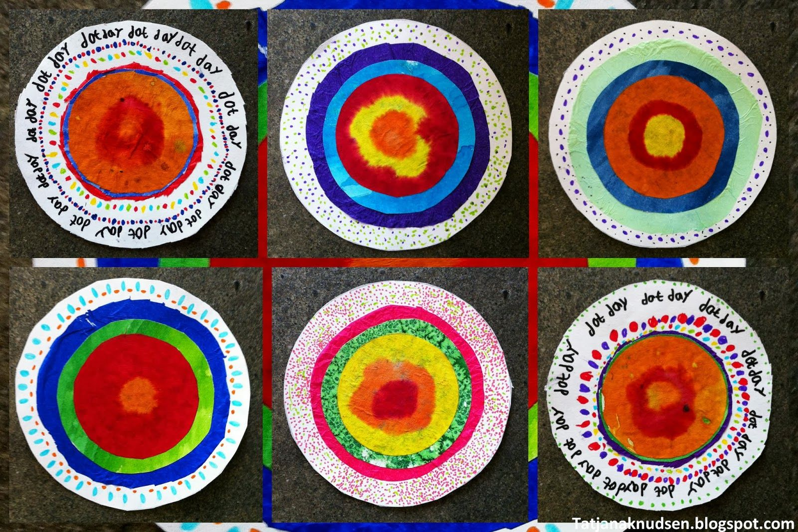 Classroom Paper Quilt Ideas ~ The dot art classroom projects book correlated lessons