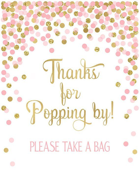 picture relating to Popcorn Sign Printable named Because of for Popping By means of! Popcorn Bar Signal Printable Female Little one