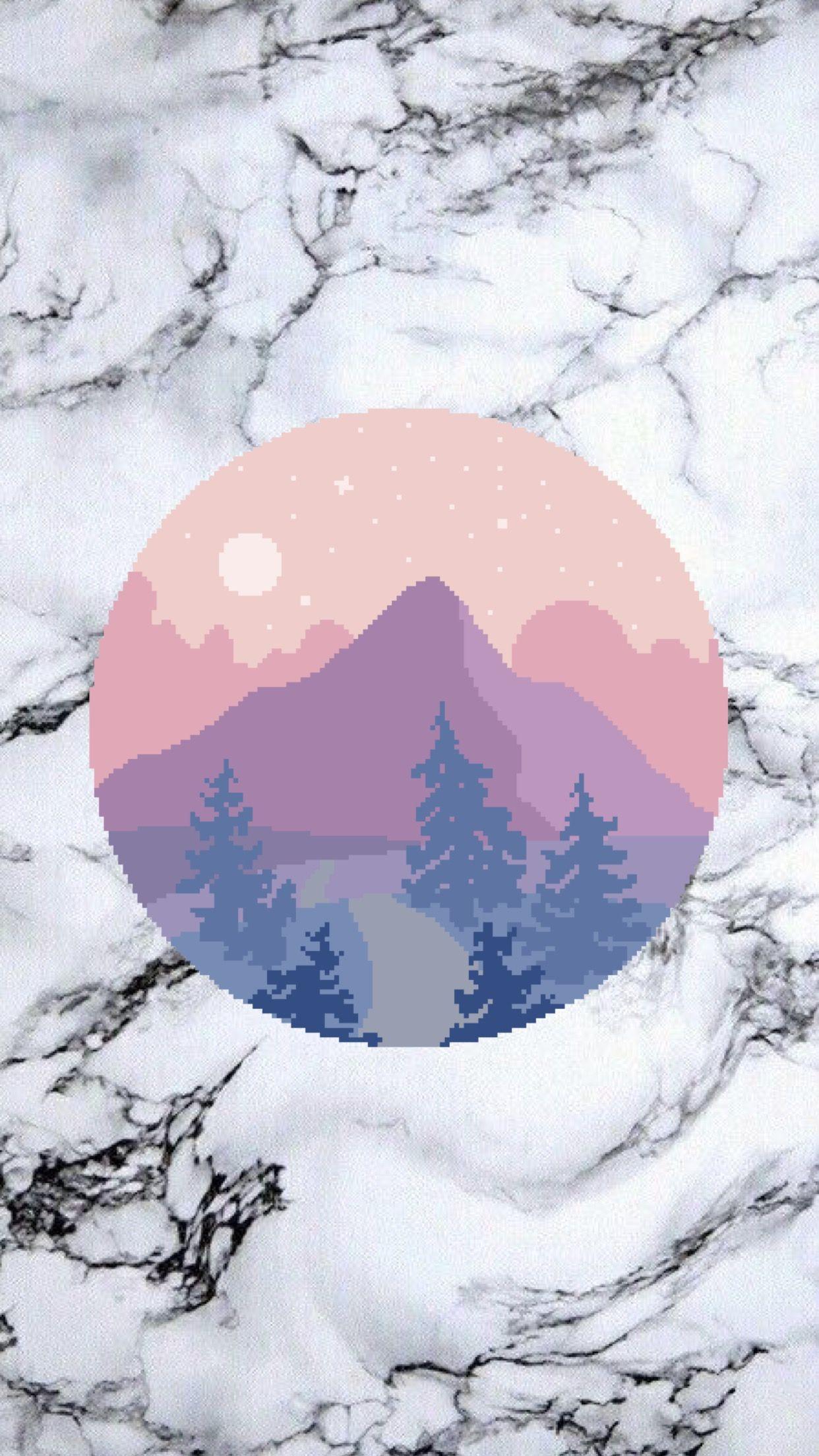 Moon mountain wallpaper  made by Laurette  instagram:@laurette_evonen  Wallpapers  Phone