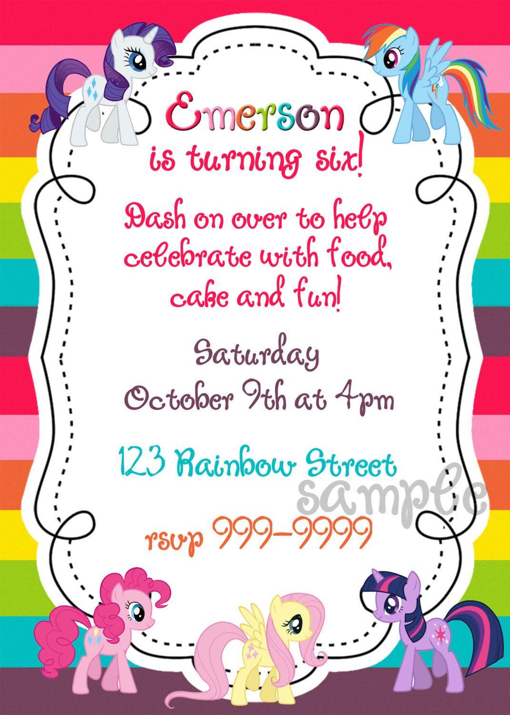 My Little Pony printable birthday invitation | Pinterest | Birthdays ...