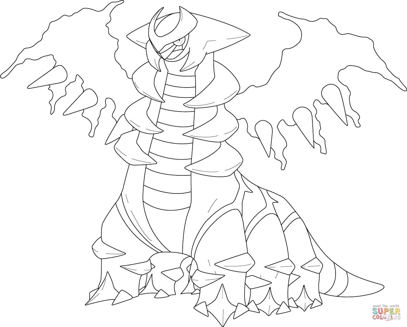 Legendary Pokémon Giratina Pokemon coloring pages