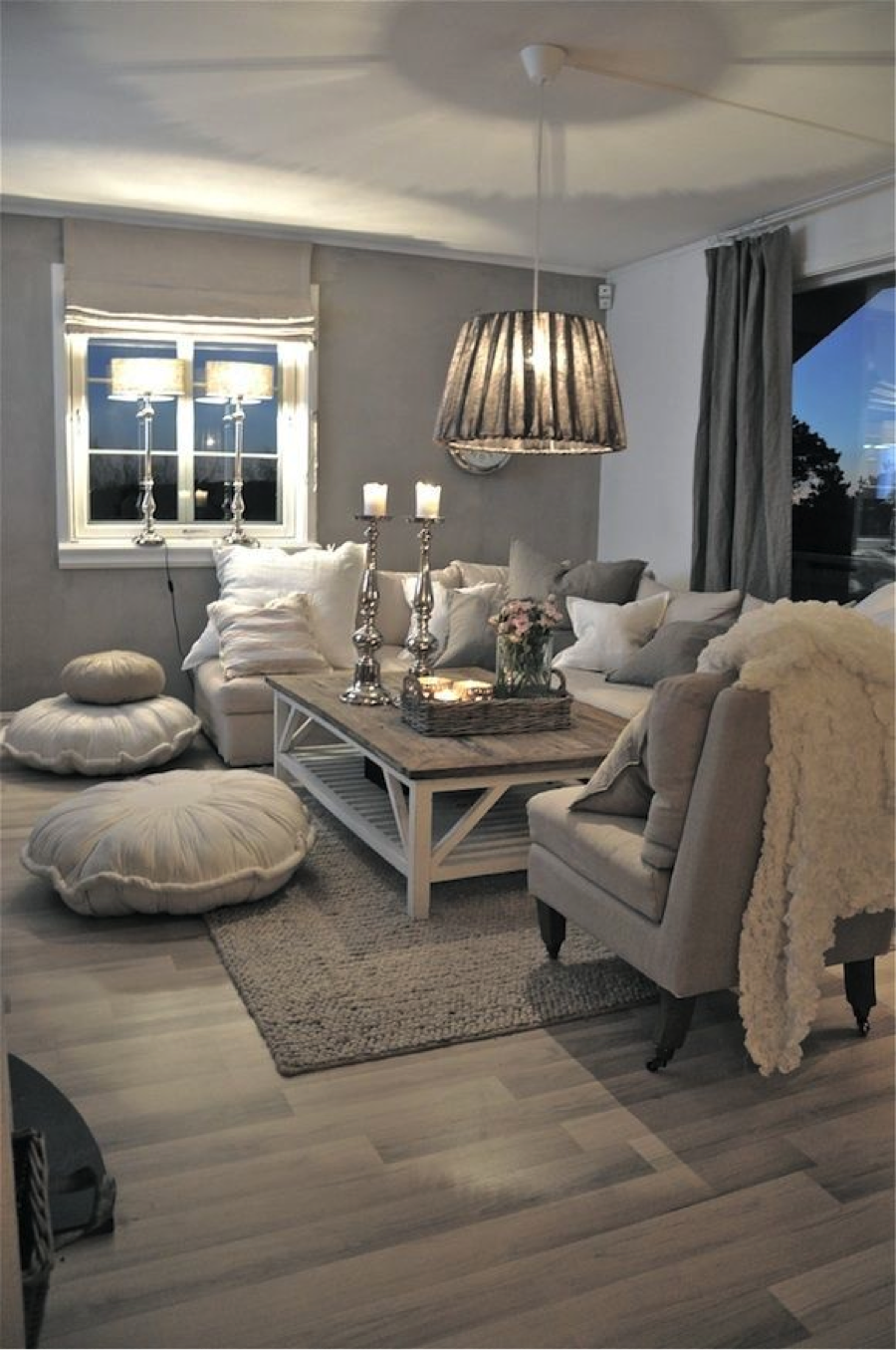 Gentil Fluffy Soft Glow Driftwood Living Room Decor Grey Walls, Gray Livingroom  Ideas, Gray And