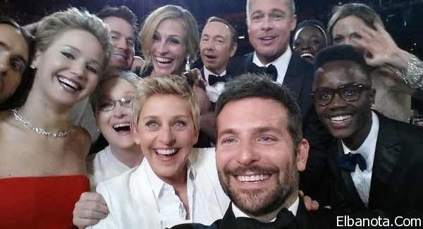 """صورة عفوية لـ""""حفل الأوسكار"""" تكسر حاجز المليون تغريدة خلال 1/2 ساعة » بنوته كافيه"""
