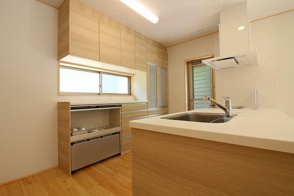 新築 キッチン シンプル 対面 背面収納 新築 キッチン 背面収納 住宅