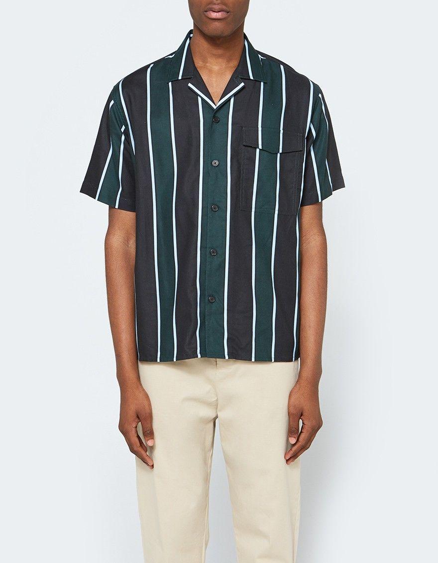 dafec198c3a Ami   Short Sleeve Camp Collar Shirt