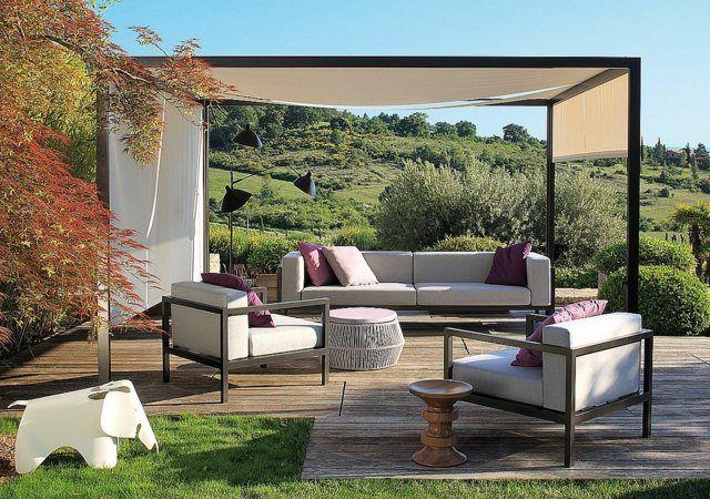 moderne Möbel Garten gestalten Ideen Sitzecke gemütlich | pergola ...
