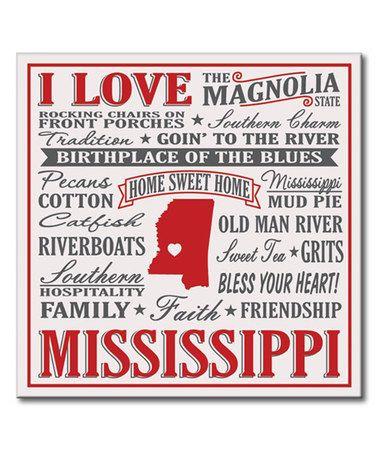 I Love Mississippi Wall Sign Mississippi List