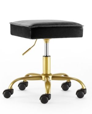 Cool Urban Living Velvet Petal Rolling Stool In 2019 Stool Gmtry Best Dining Table And Chair Ideas Images Gmtryco