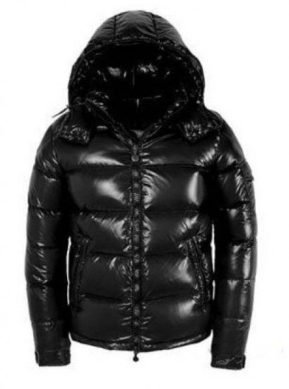 Moncler Maya Winter Down Jacket Mens Short Glossy Zip Black Cheap Moncler  Outlet Store