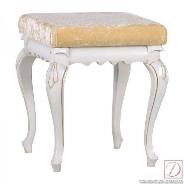 Hocker MATTEO AVORIO Buche creme elfenbein B:42cm - Traditionelle Handwerkskunst und edle Materialien treffen sich in diesem Hocker im Landhausstil und formen die Silhouette dieses Hockers. Nehmen Sie Platz und entspannen Sie sich.