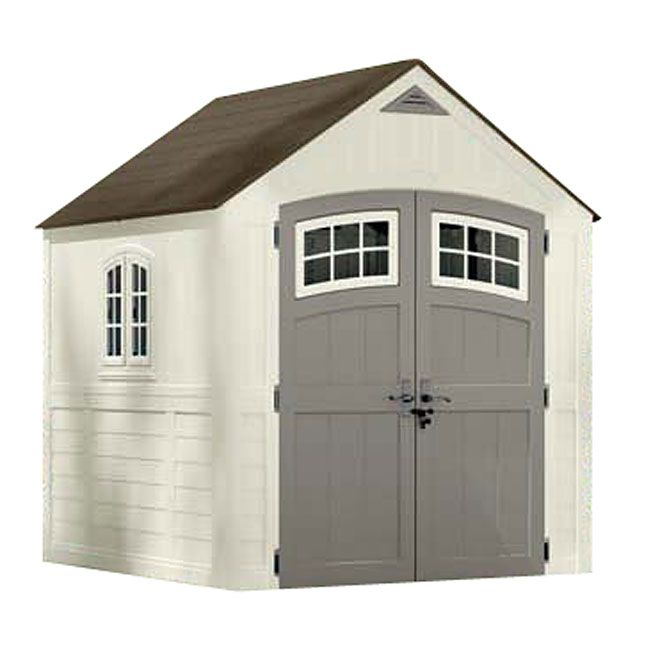 """Cascade"" Garden shed RONA 999 Plastic storage sheds"