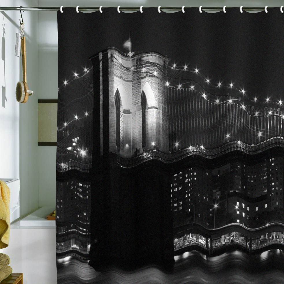 Leonidas Oxby Brooklyn Bridge 125 Shower Curtain Cool Stuff