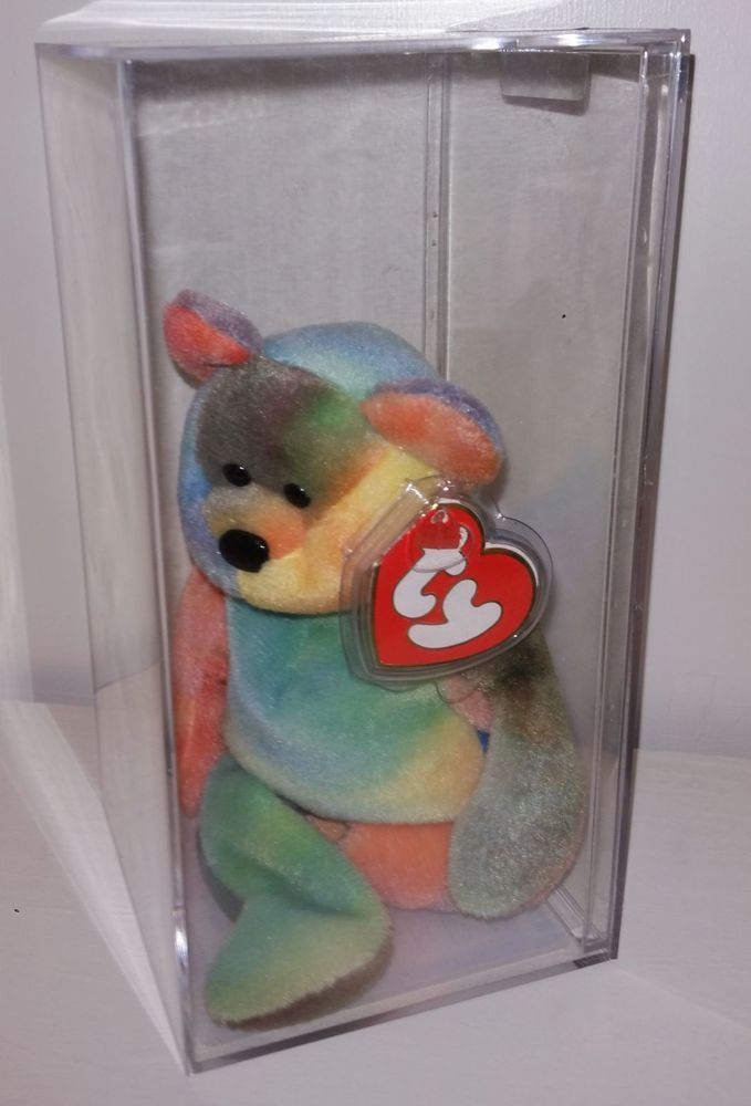 fea1dd41256 Ty Jerry Garcia 1st Tie dye Teddy Bear 3rd 2nd Gen MWMT 1993 Authenticated  RARE  TY