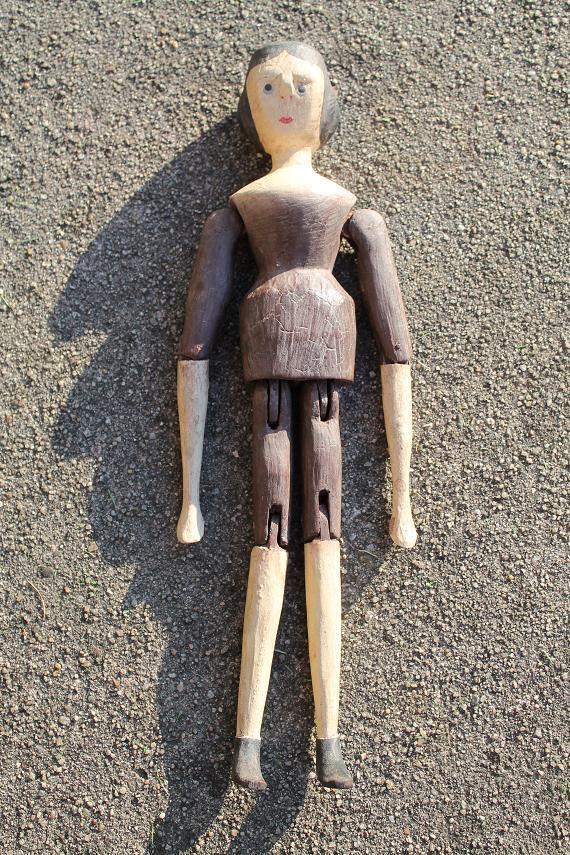 Antike Barockpuppe Marionette Holzpuppe Gelenken - 18. / 19. Jhd ...