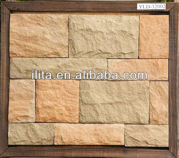 Exterior Artificial Faux Fake Stone Brick Wall Panel Siding Uv Protection Waterproof Fire