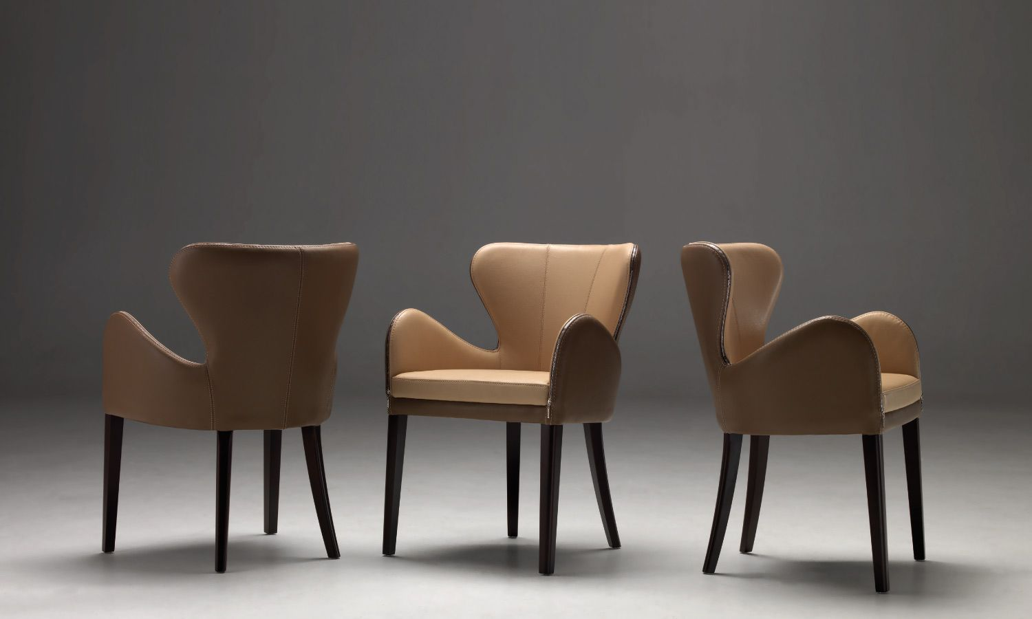 ELEKTRA Chair By BORZALINO   Leather With Wood Base   #furniture #sofa  #chair #armchair #carlobimbi