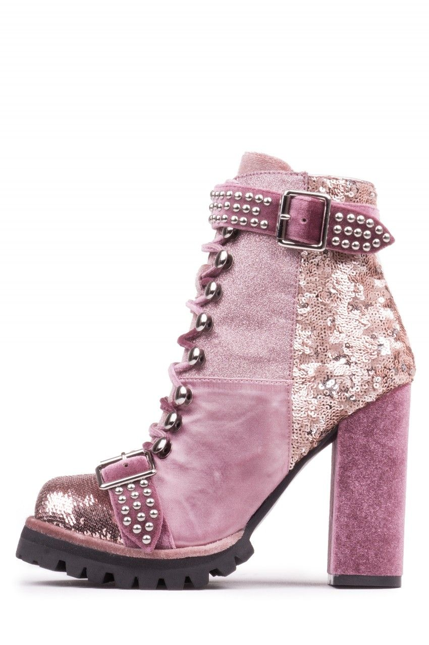 c6d680a525dc Jeffrey Campbell Shoes LILITH-2 Booties in Lilac Pink Combo