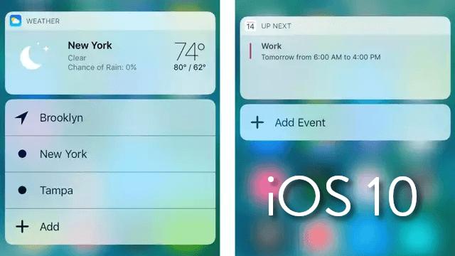 Una mirada más profunda acerca de los nuevos widgets en iOS 10
