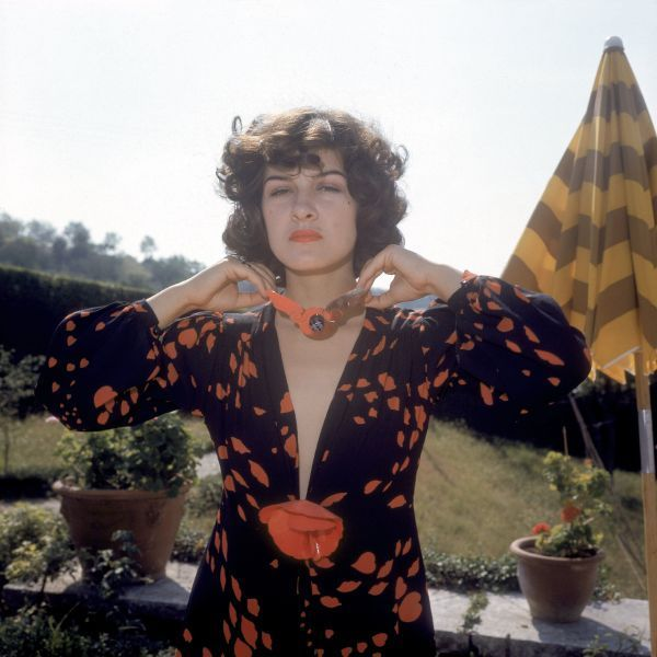 Paloma Picasso in Yves Saint Laurent