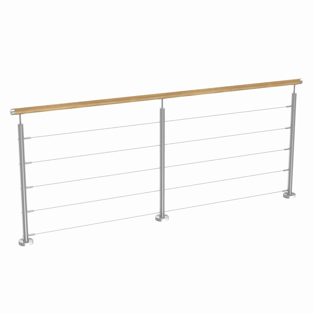 Garde Corps Inox Pas Cher Galerie D Images Kit Garde Corps Inox Et Bois 5 Cables 240cm Wardrobe Rack Stairs Home Decor