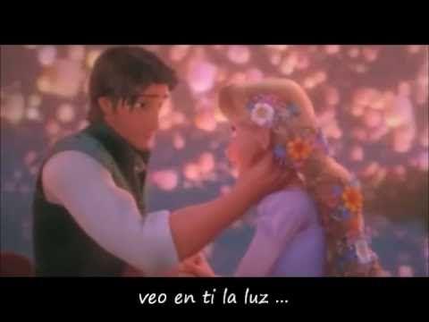 Por Fin Ya Veo La Luz Enredados Letra Disney Music Videos Friday Im In Love I Saw The Light