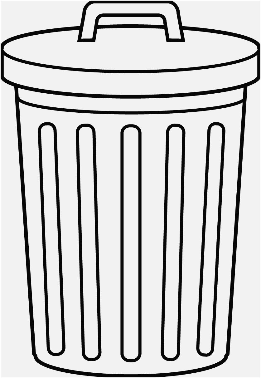Trash Can Coloring Pages