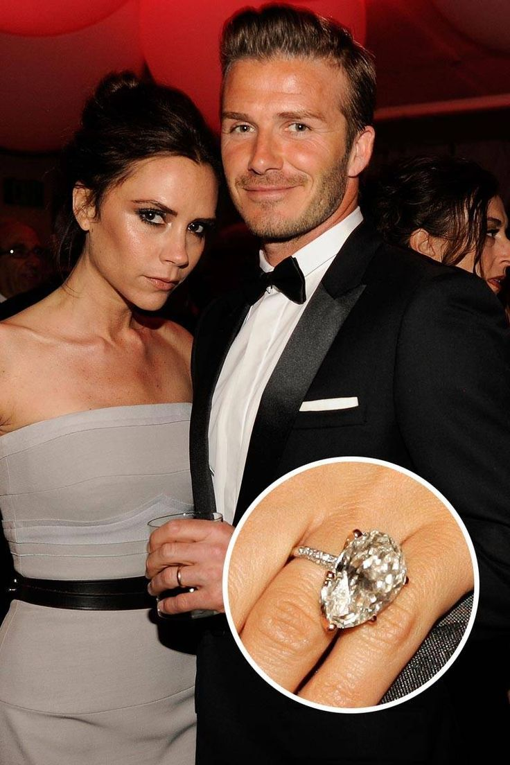 Image result for Celebrity Victoria Beckham engagement ring