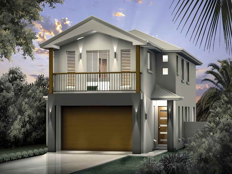 narrow beach house plans