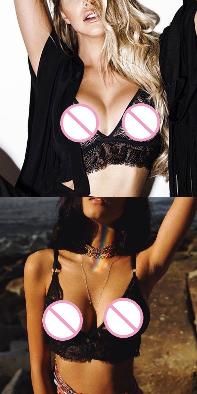 Women Lingerie Corset Lace Flowers Bralette Bralet Bra Tank Crop Underwear USA