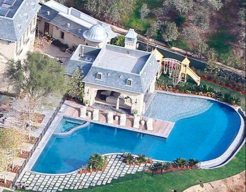 Tom Brady Gisele Bundchen Pool Hollywood Homes Celebrity
