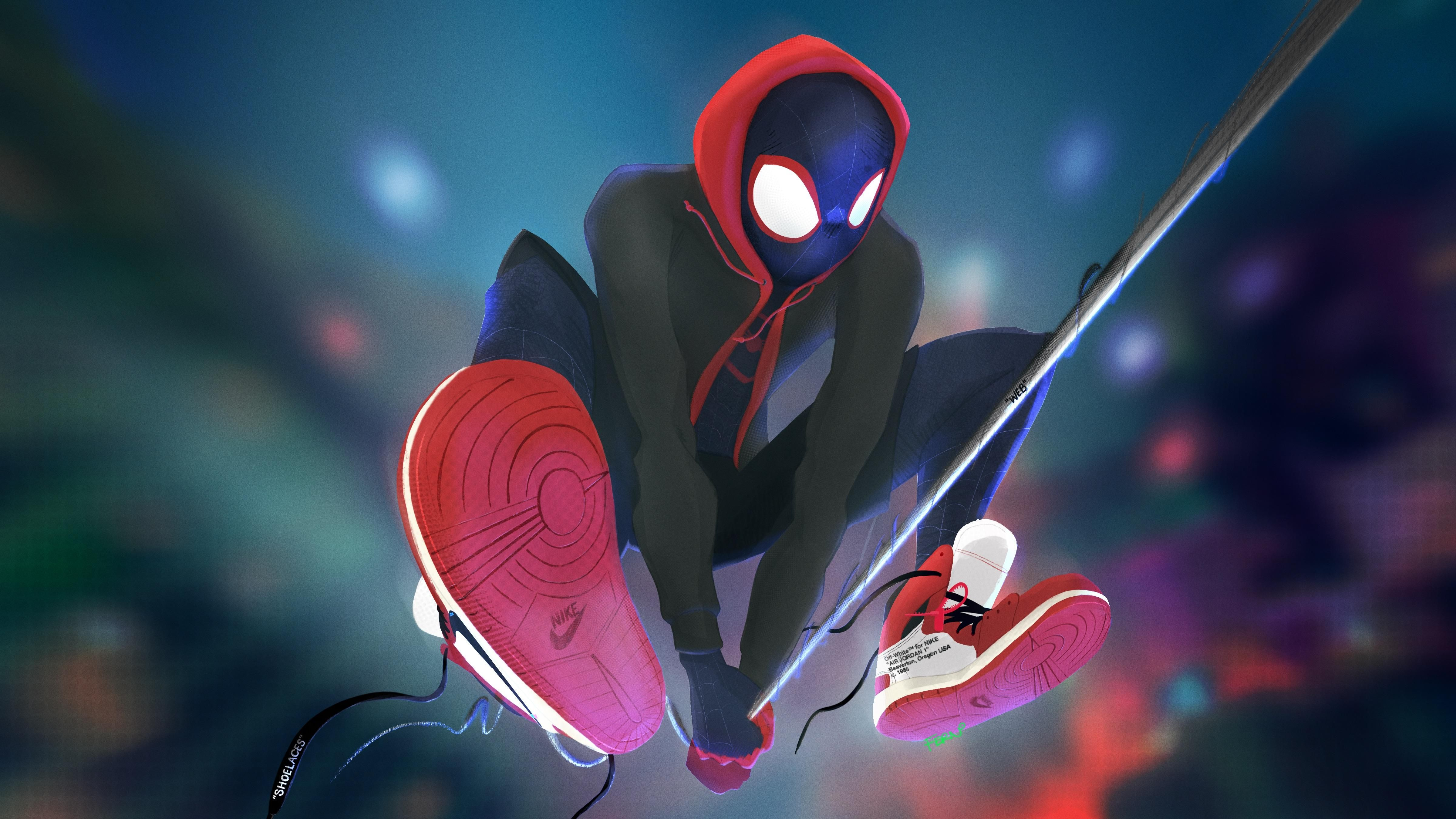 Spiderman Miles Morales Off White