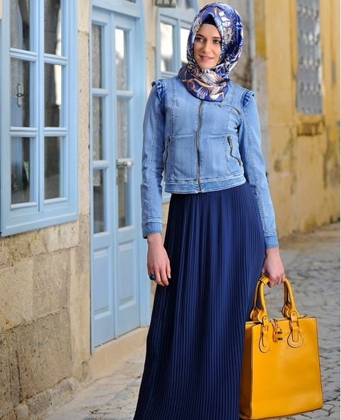 Turkish Hijab Blue Hijap Tesett R T Rkiye Pinterest