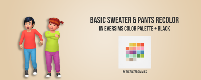 Toddler Basic Sweater & Pants Recolor