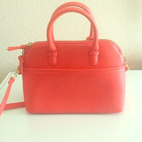Zara Handbag Zara Orange Handbag!! Zara Bags Shoulder Bags