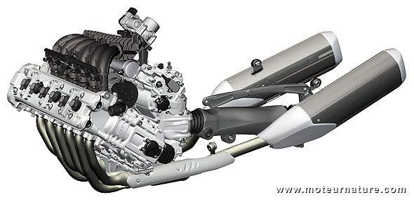BMW K1600 6 Cylinder Bike engine   Engine Art   Bike engine